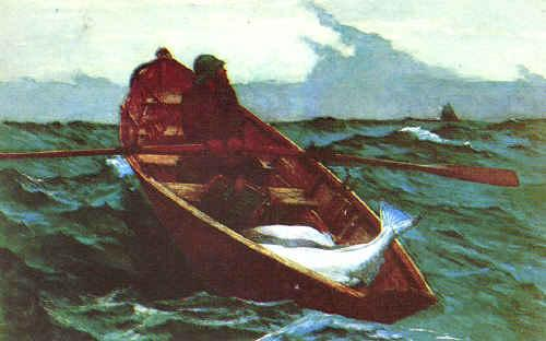 Winslow Homer Fog Warning oil painting image