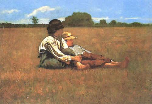 Winslow Homer Boys in a Pasture Sweden oil painting art