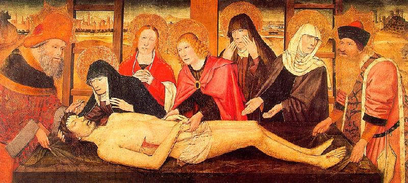 Jaume Huguet The Lamentation of Christ, canvas oil painting image