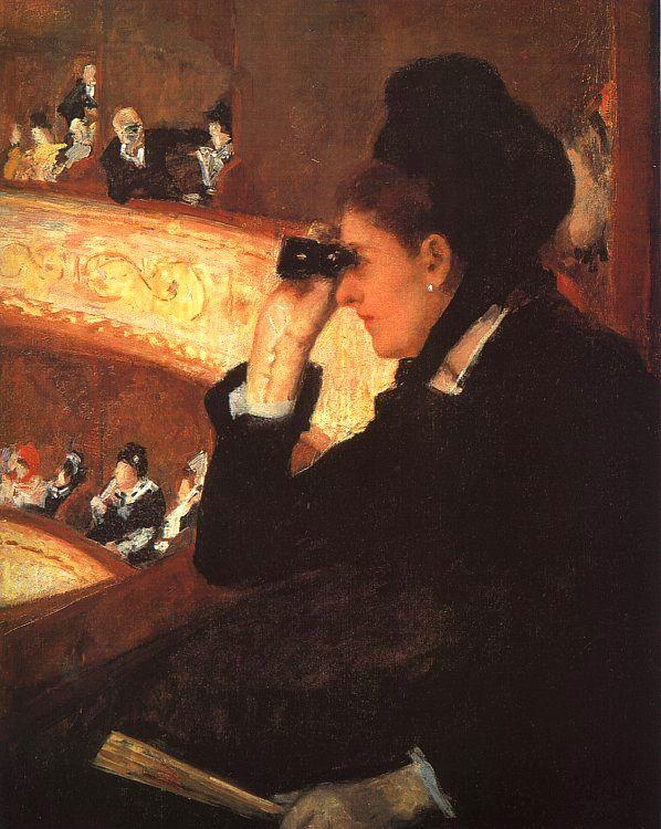 Mary Cassatt At the Opera oil painting image