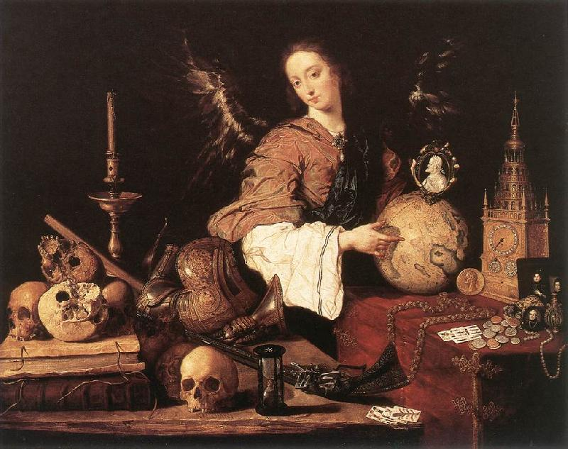 PEREDA, Antonio de Allegory ag oil painting image