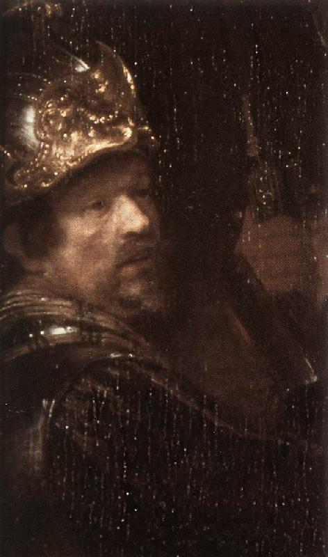 REMBRANDT Harmenszoon van Rijn The Nightwatch (detail)  HG oil painting image