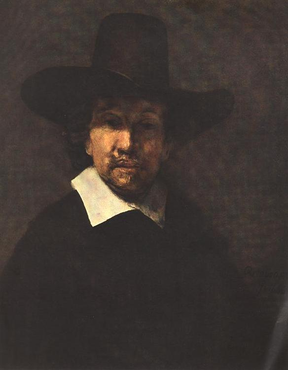 REMBRANDT Harmenszoon van Rijn Portrait of Jeremiah Becker Sweden oil painting art