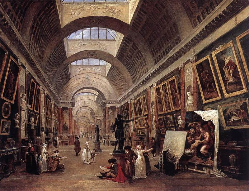 ROBERT, Hubert Design for the Grande Galerie in the Louvre QAF oil painting image