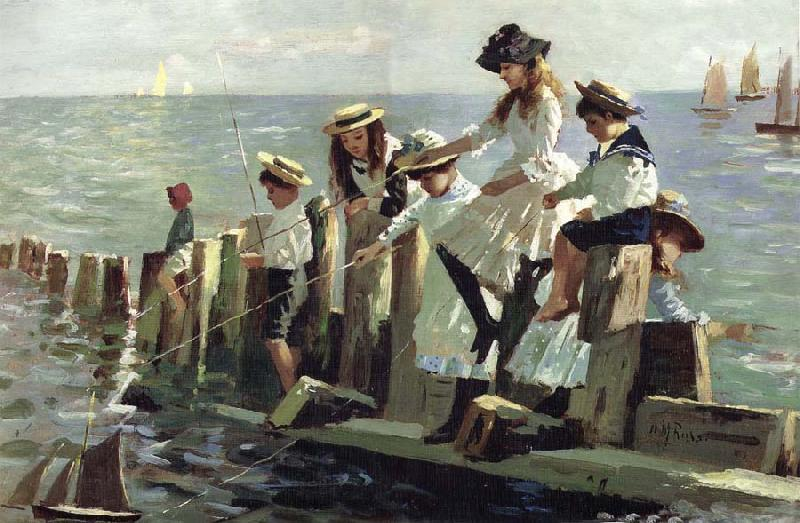 Alexander Mark Rossi The Little Anglers oil painting picture
