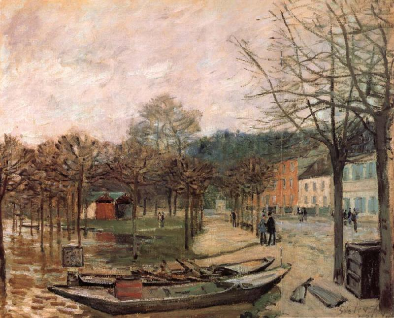 Alfred Sisley Flood at Port-Marly oil painting picture