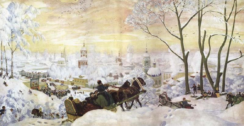 Boris Kustodiev Carnival oil painting picture