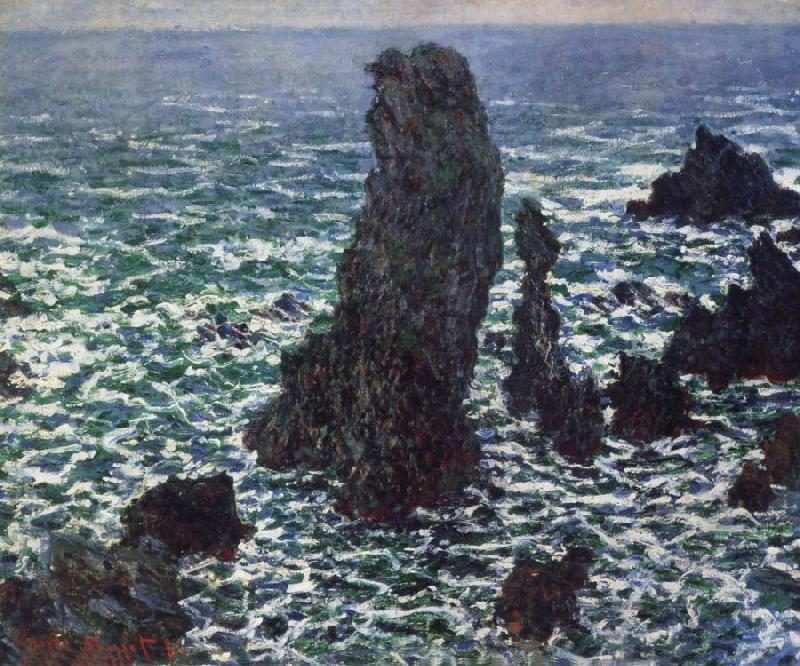 Claude Monet Rocks at Belle-lle oil painting picture