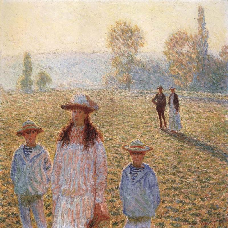 Claude Monet Landscape with Figures,Giverny oil painting picture