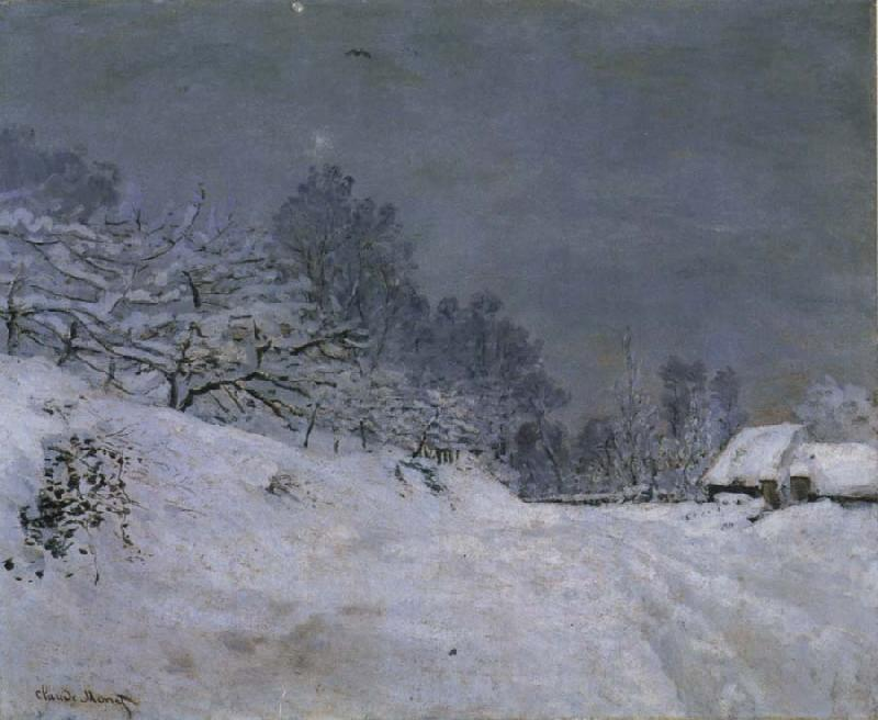 Claude Monet The Road in front of Saint-Simeon Farm in Winter oil painting picture