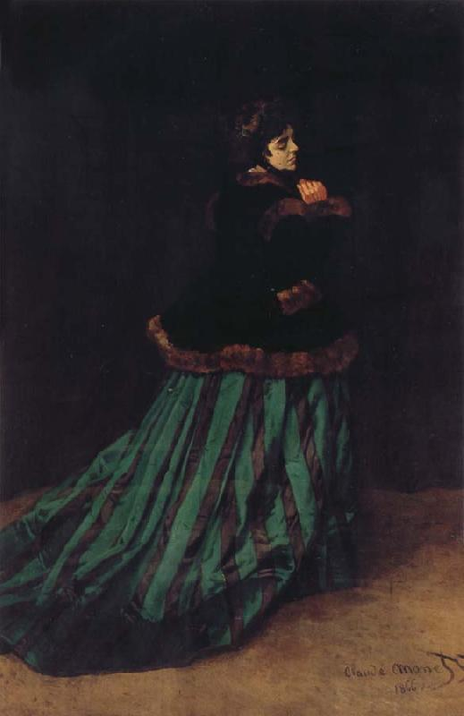Claude Monet Camille or The Woman with a Green Dress oil painting picture