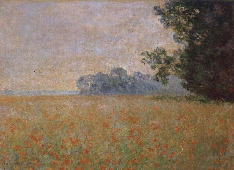 Claude Monet Oat and Poppy Field oil painting picture