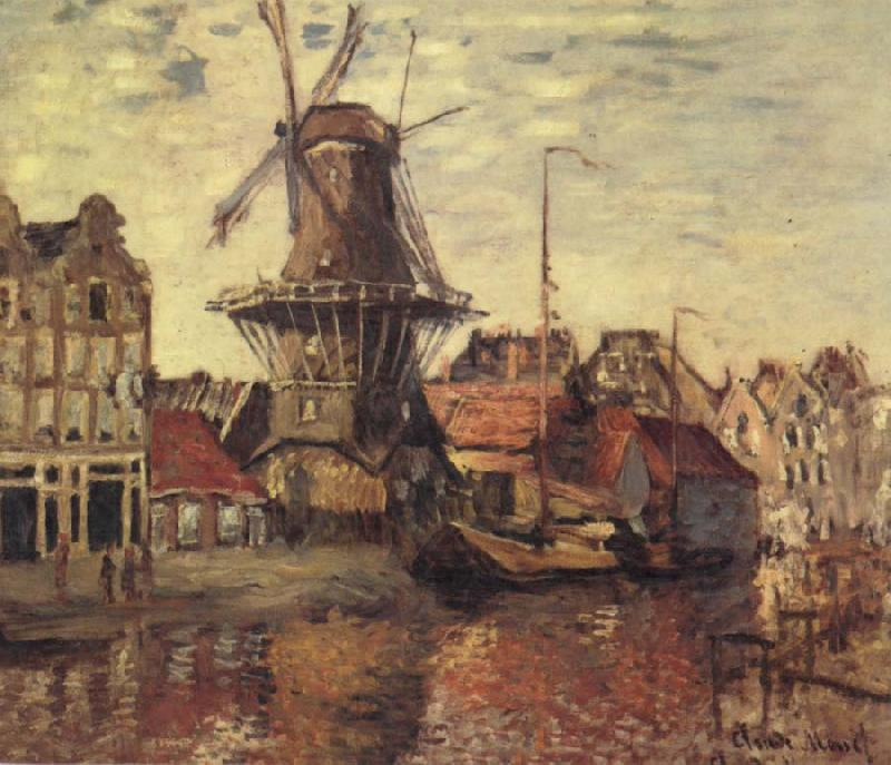 Claude Monet THe Windmill on the Onbekende Gracht oil painting picture