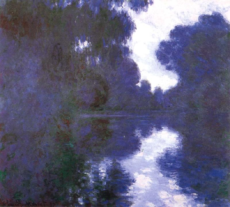Claude Monet Morning on the Seine,Clear Weather oil painting picture