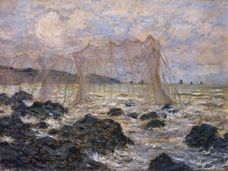 Claude Monet Fishing Nets at Pouruille oil painting picture