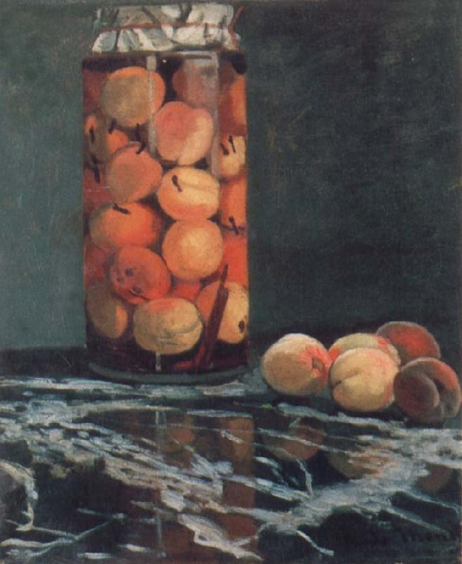 Claude Monet Jar of Peaches oil painting picture