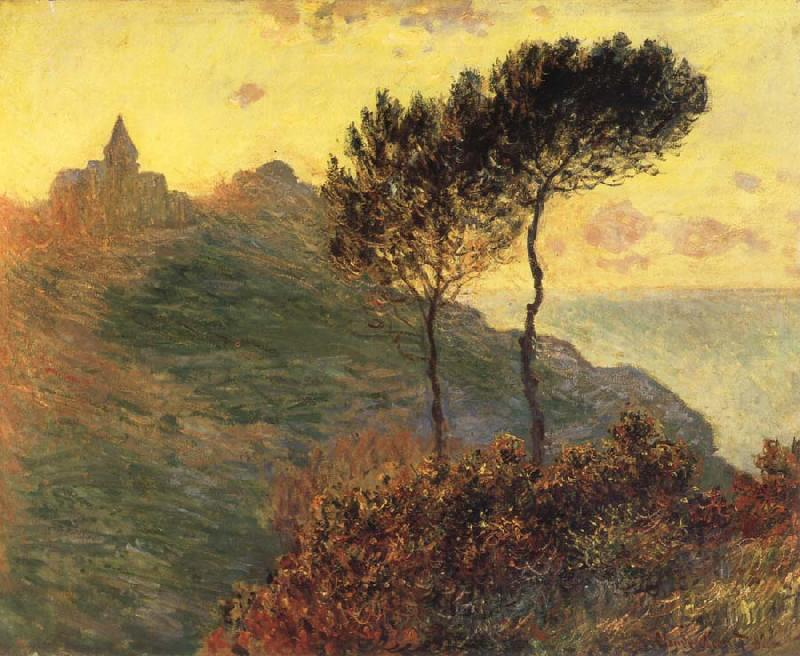 Claude Monet The Church at Varengeville,Grey Weather oil painting picture