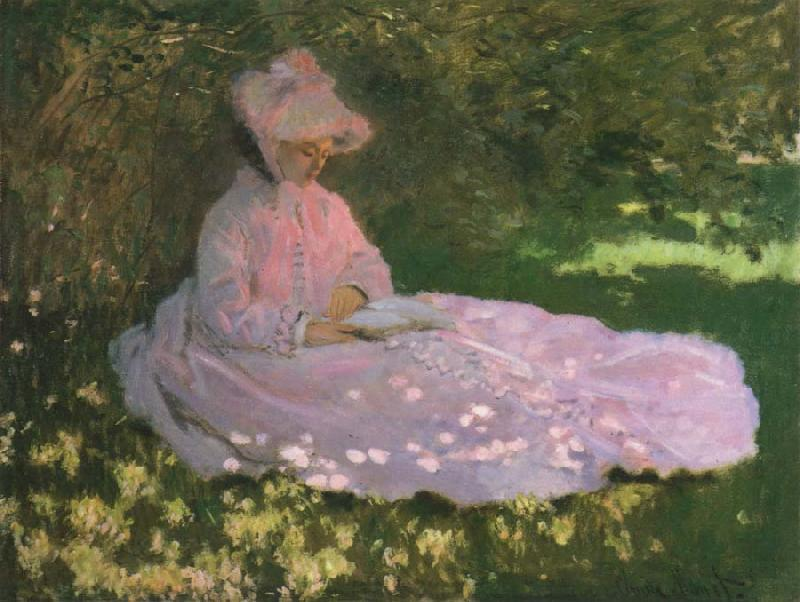 Claude Monet A Woman in a Garden,Spring time oil painting picture