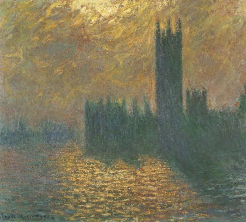 Claude Monet Houses of Parliament,Stormy Sky oil painting picture