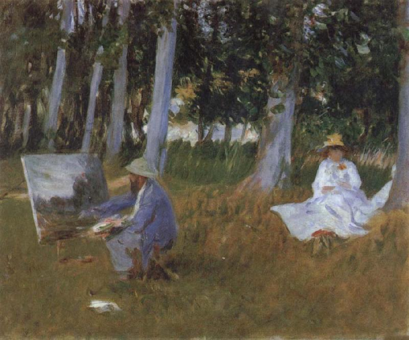 Claude Monet Claude Monet Painting in a Wood oil painting picture