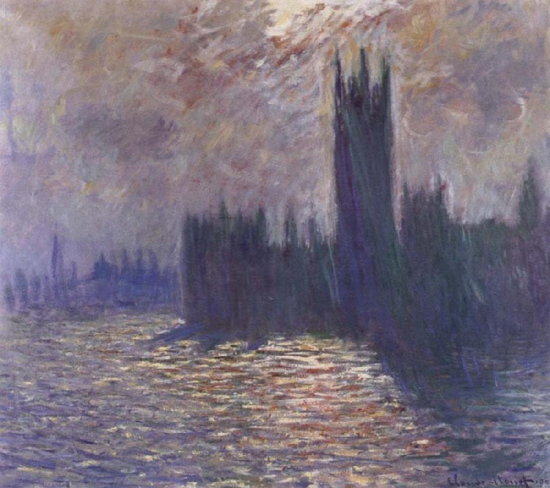 Claude Monet Houses of Parliament,Reflections on the Thames oil painting picture