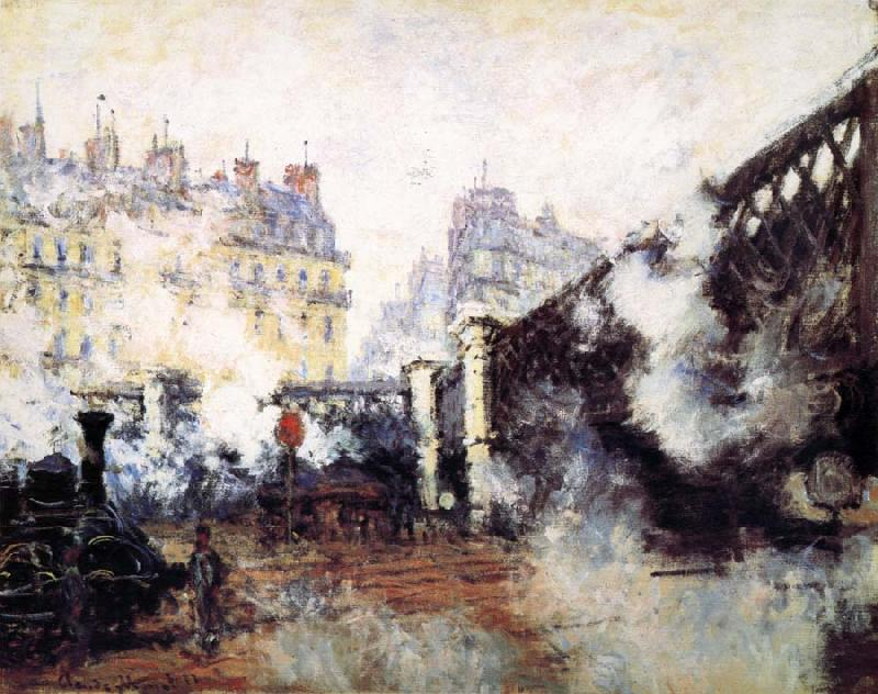 Claude Monet Le Pont de L-Europe,Gare Saint-Lazare oil painting picture