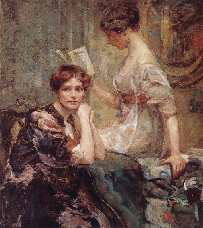 Colin Campbell Cooper Two Women oil painting image