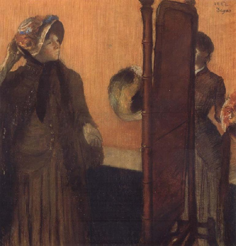 Edgar Degas Cbez la Modiste oil painting picture