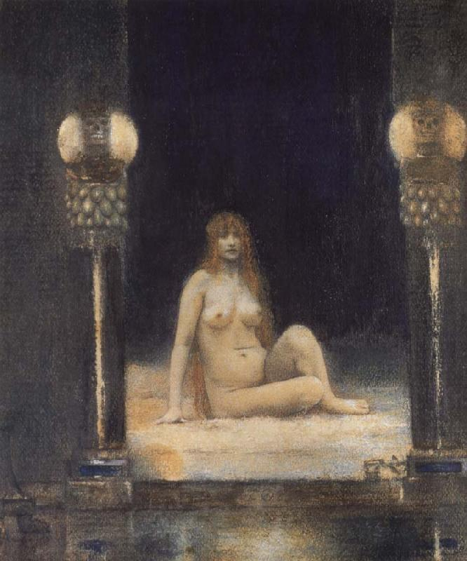 Fernand Khnopff Of Animality oil painting picture