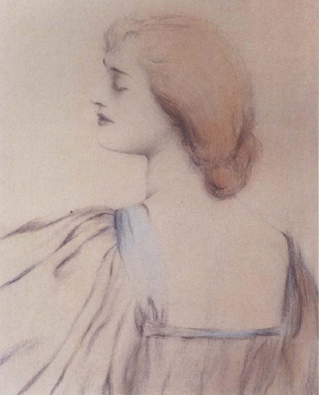 Fernand Khnopff A Shoulder oil painting picture