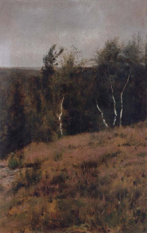 Fernand Khnopff In Fosset,Birches oil painting picture