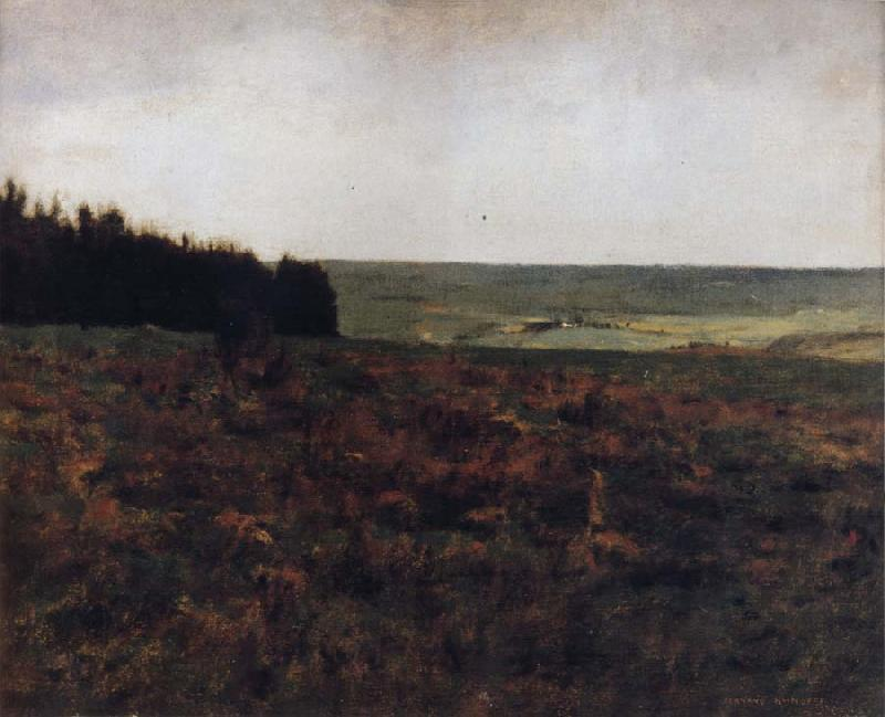 Fernand Khnopff Heaths in the Ardennes oil painting image