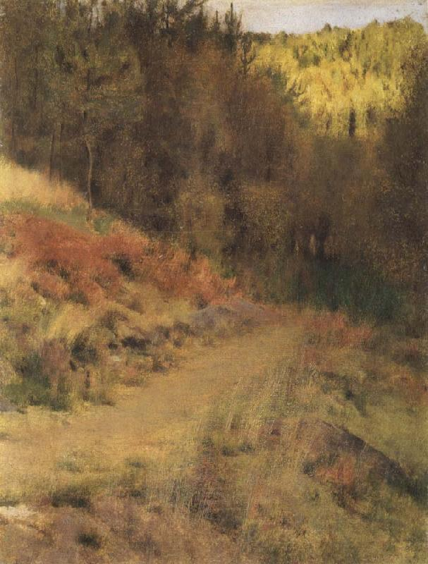 Fernand Khnopff IN fOSSET.a Path oil painting picture