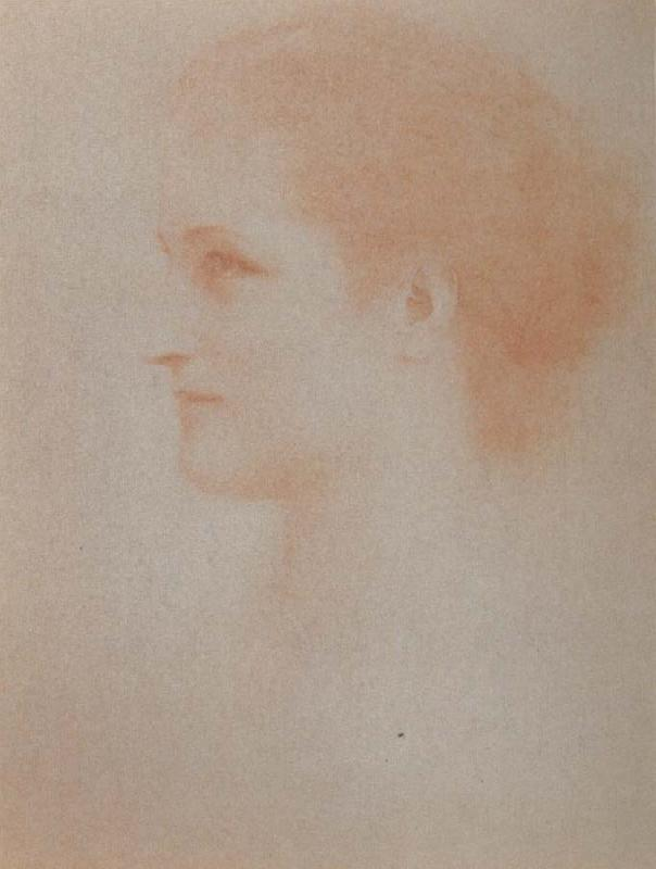 Fernand Khnopff Portrait of Countess Henri D Oultremont oil painting picture