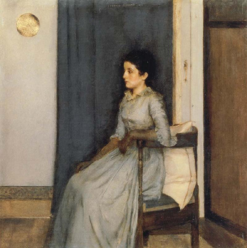 Fernand Khnopff Portrait of Marie Monnom oil painting picture