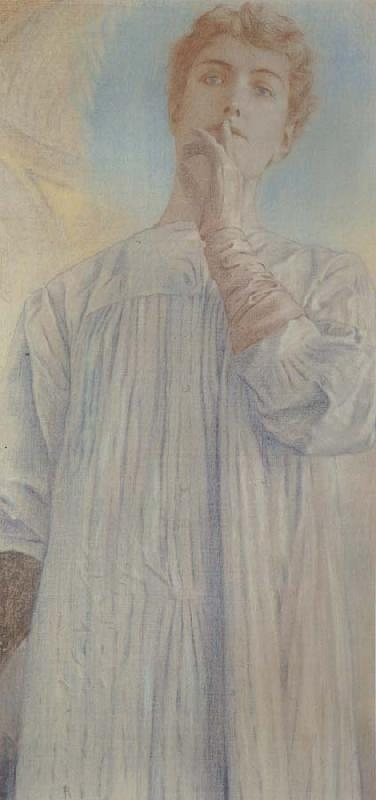 Fernand Khnopff On Silence oil painting picture