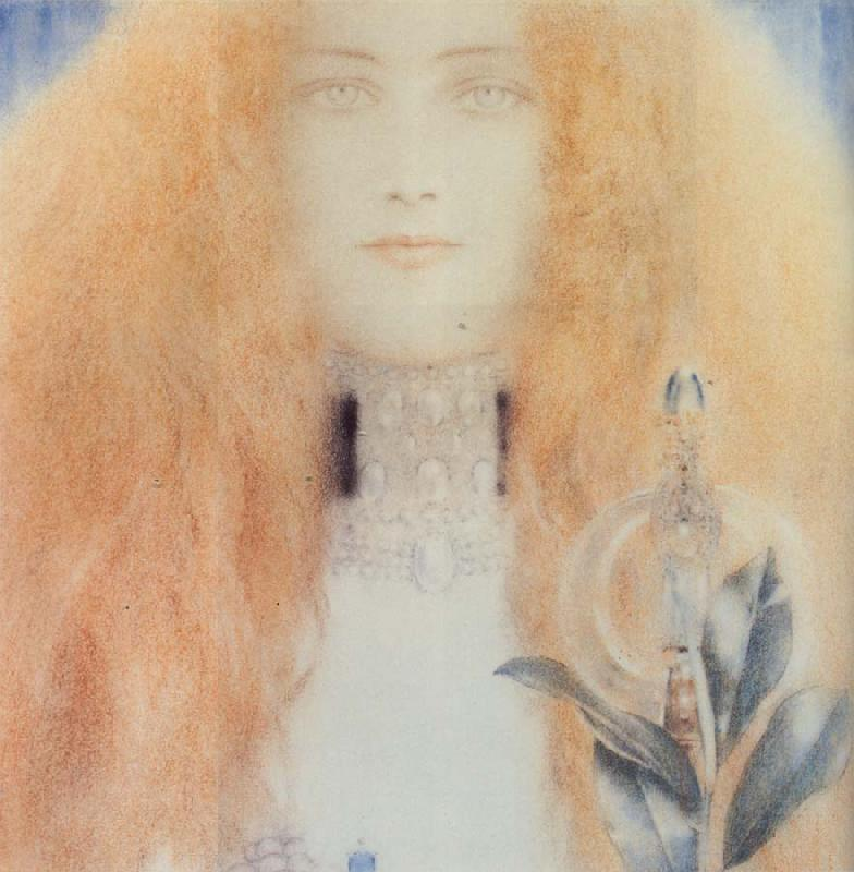 Fernand Khnopff Head of a Woman oil painting picture
