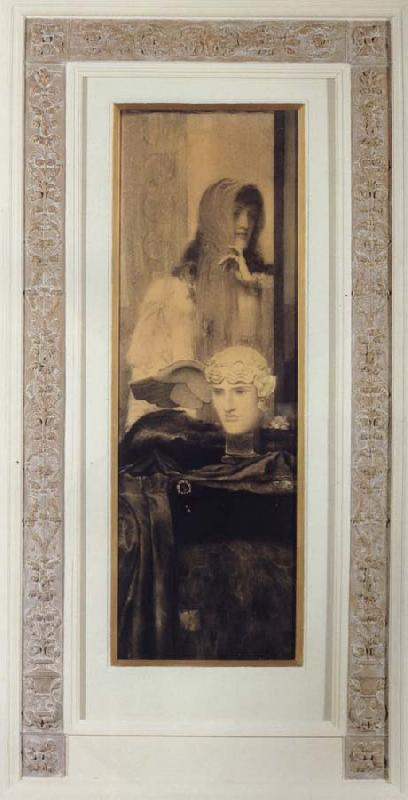 Fernand Khnopff White Black and Gold oil painting picture