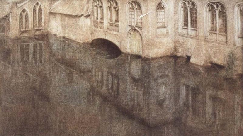 Fernand Khnopff In Bruges,The Sint-Janshospitaal oil painting picture