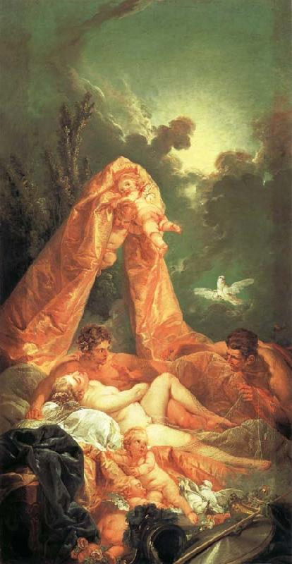 Francois Boucher Mars and Venus Surprised by Vulcan oil painting picture