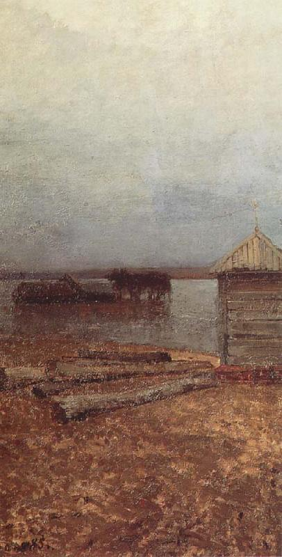 Isaac Levitan Flood Waters oil painting image