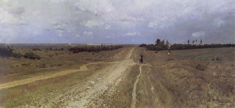 Isaac Levitan The Vladimirka Road oil painting picture