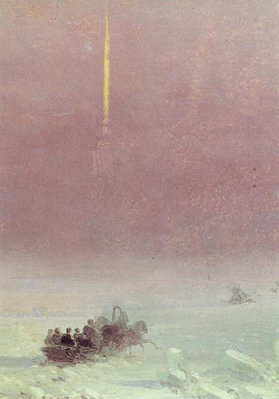 Ivan Aivazovski St.Petersburg,Crossing the Neva oil painting picture