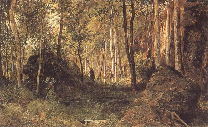 Ivan Shishkin Landscape with a Hunter oil painting picture