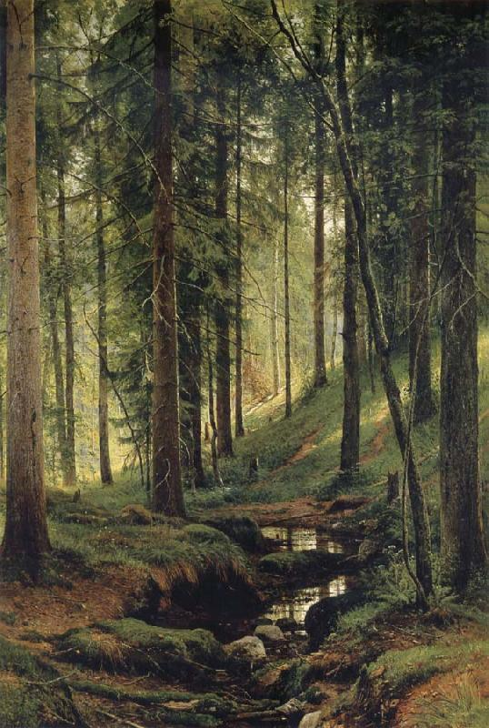 Ivan Shishkin The Brook in the Forest oil painting picture