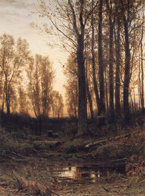 Ivan Shishkin Eventide-Sunset oil painting picture