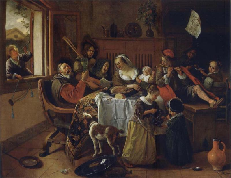 Jan Steen The Merry family oil painting picture