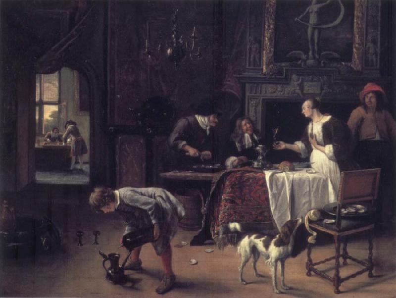 Jan Steen Easy come,easy go oil painting picture