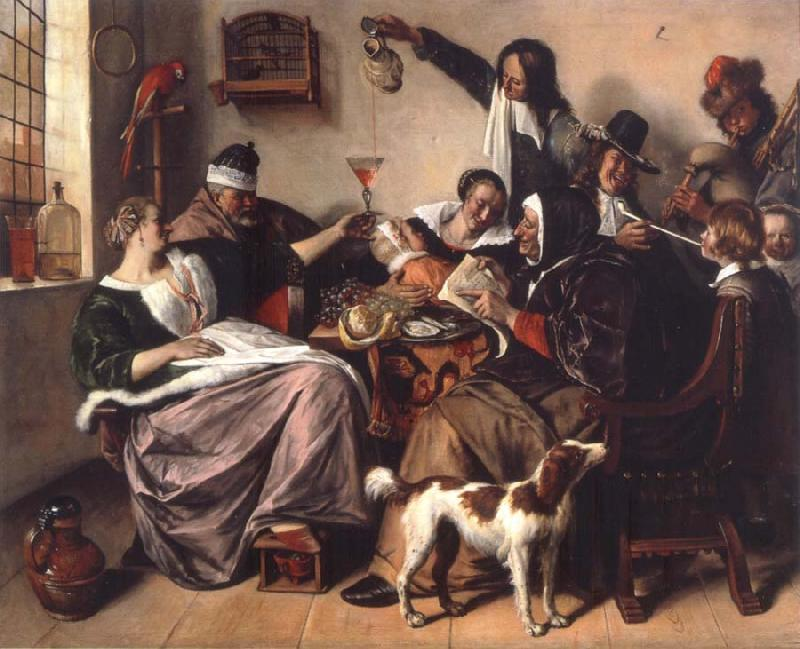 Jan Steen The Way hear it is the way we sing it oil painting picture