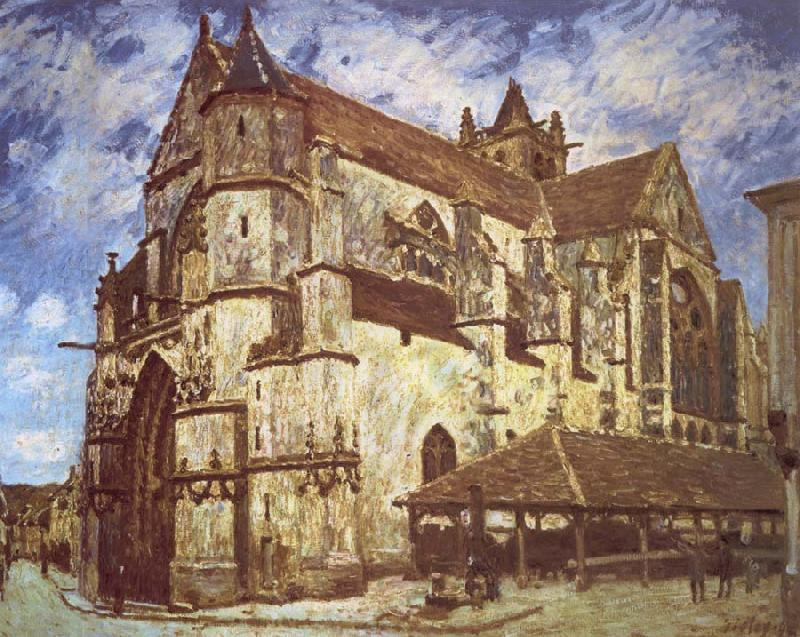 Jean-Antoine Watteau The church at Moret,Evening oil painting picture